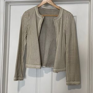 Tory Burch Leather Hearts Jacket